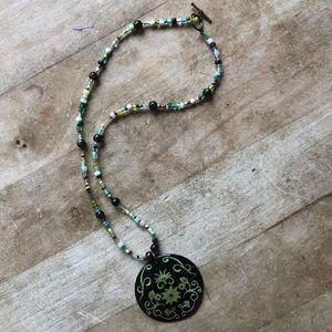 Boho Earthy Toggle Necklace